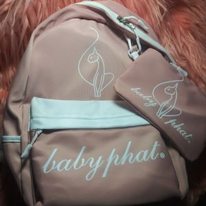 Baby Phat Blush Backpack 2 in 1 NWT